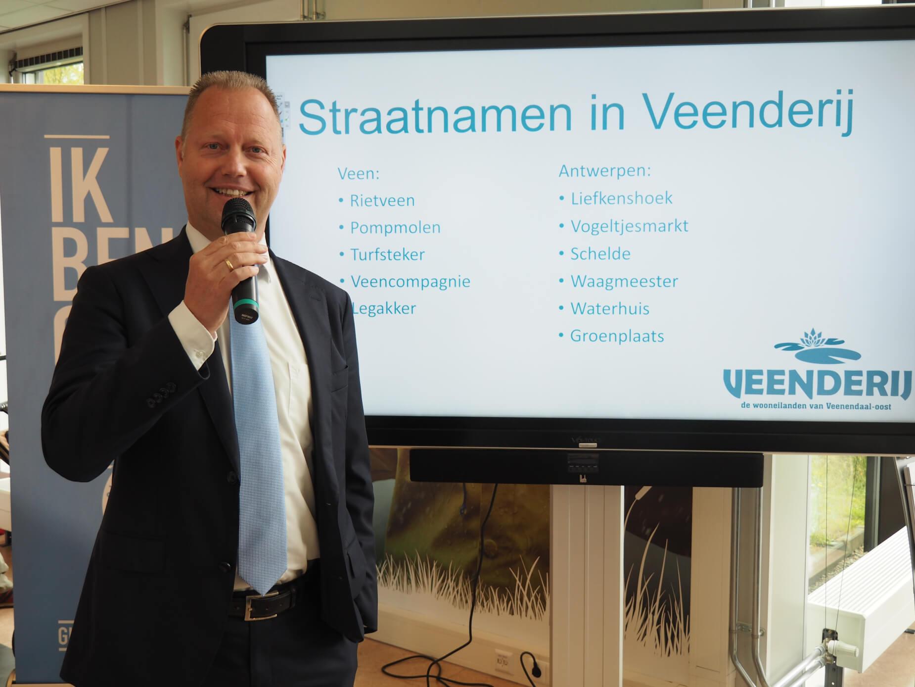 wethouder Stroobosscher straatnamen Veenderij